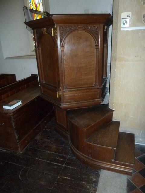 St Peter & Paul, Shalden: pulpit