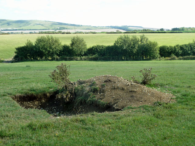 Curious recent excavation