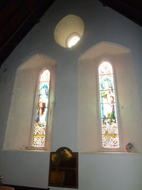 A hazy scene within Shalden Church