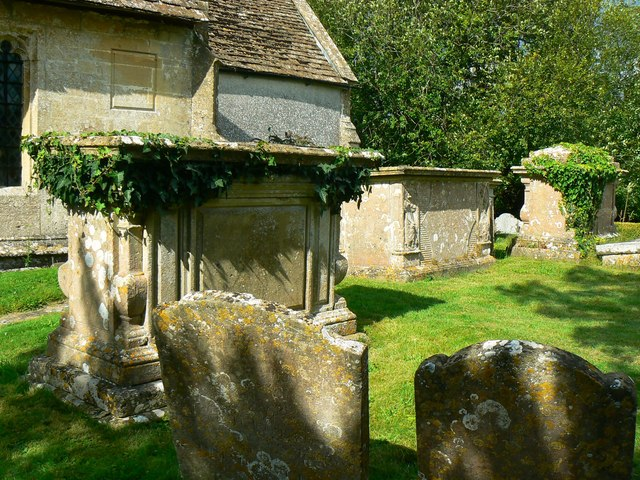 Tombs and gravestones, Church of St James, Cherhill