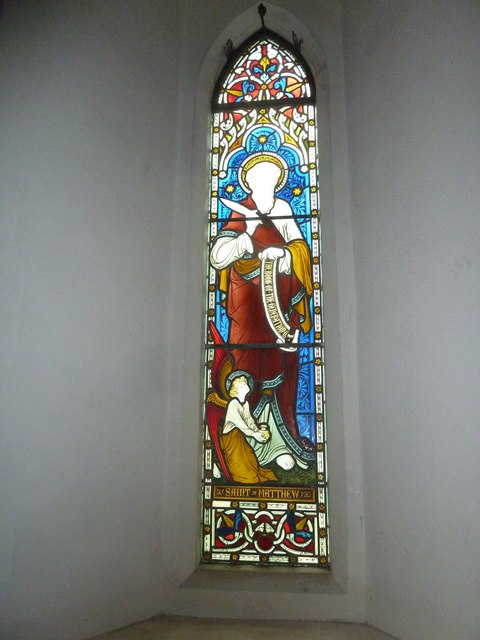 St Peter & Paul, Shalden: stained glass window (IX)
