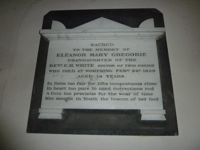 St Peter & Paul, Shalden: memorial (F)