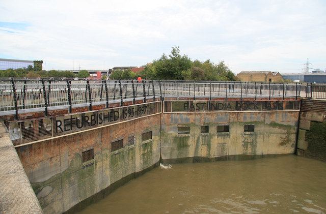 East India Dock entrance lock