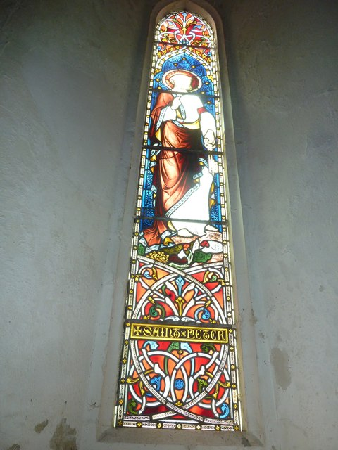 St Peter & Paul, Shalden: stained glass window (XI)