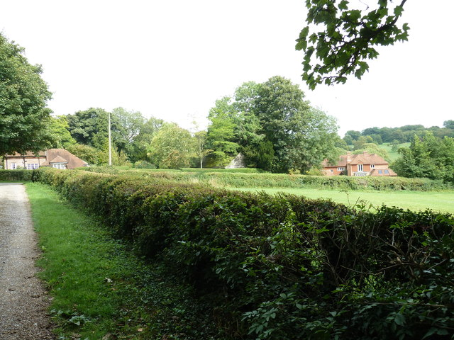 View from the churchyard gates at Shalden