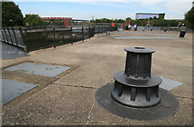 TQ3980 : East India Dock Entrance Lock by Chris Allen