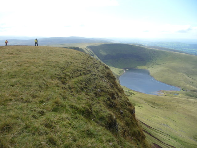 Walkers on the Carmarthen Fans above Llyn y Fan Fach