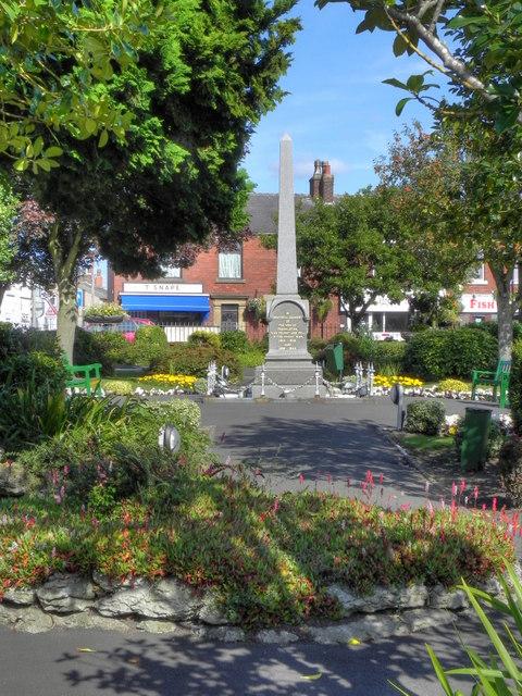 Freckleton Memorial Garden and War Memorial