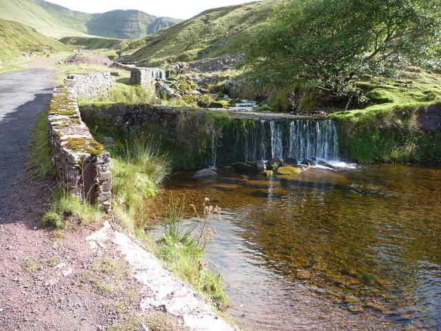 Weir below Llyn y Fan Fach