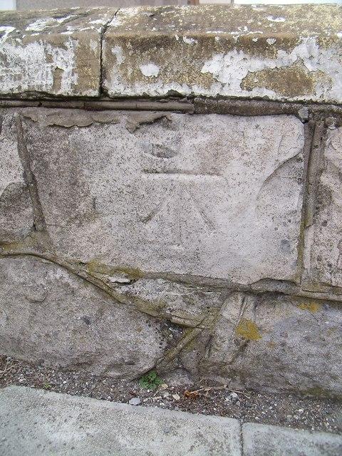 Benchmark on Augusta Street, Llandudno