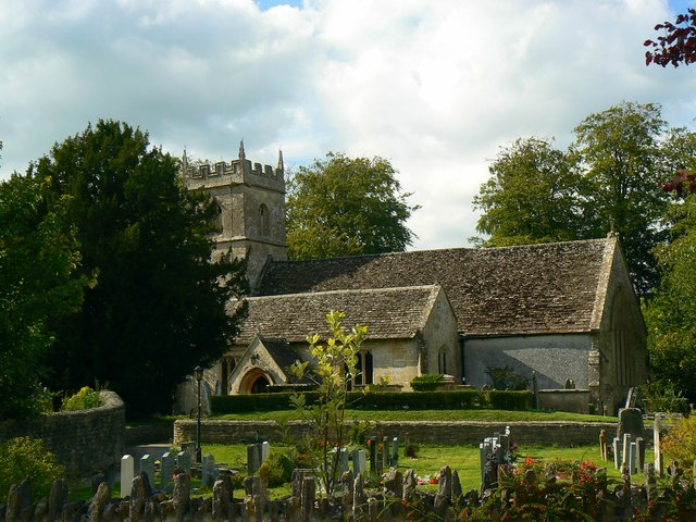 Southern churchyard and the Church of St James, Cherhill
