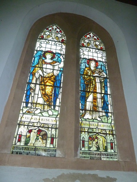 Saint Mary's, Upton Grey: stained glass window  (A)