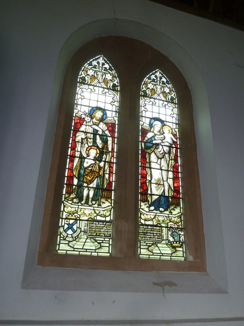 Saint Mary's, Upton Grey: stained glass window  (C)