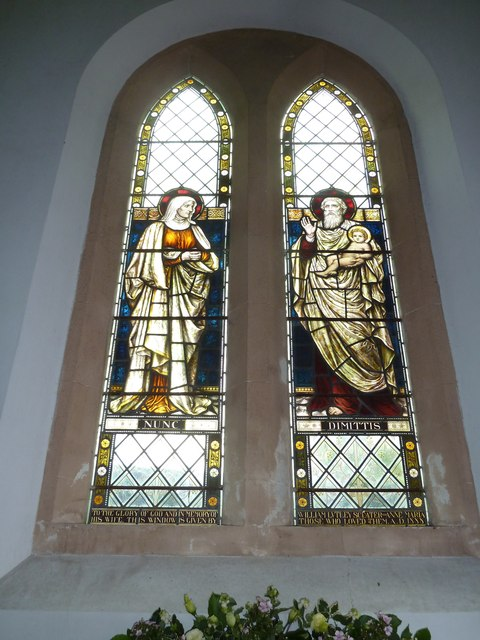 Saint Mary's, Upton Grey: stained glass window  (D)