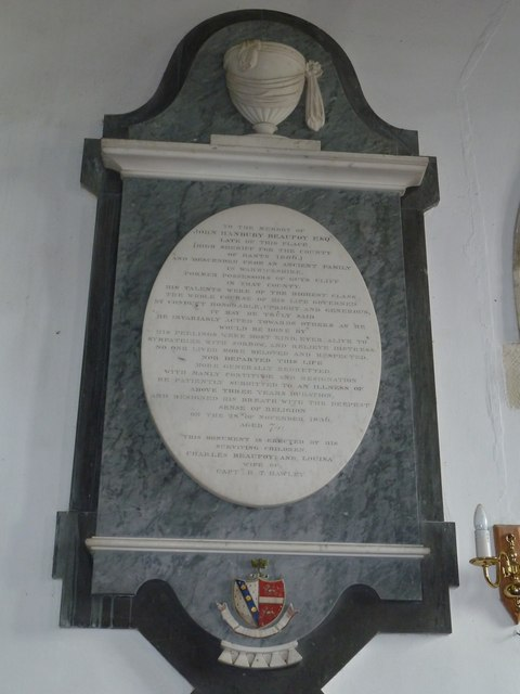 Saint Mary's, Upton Grey: memorial (9)