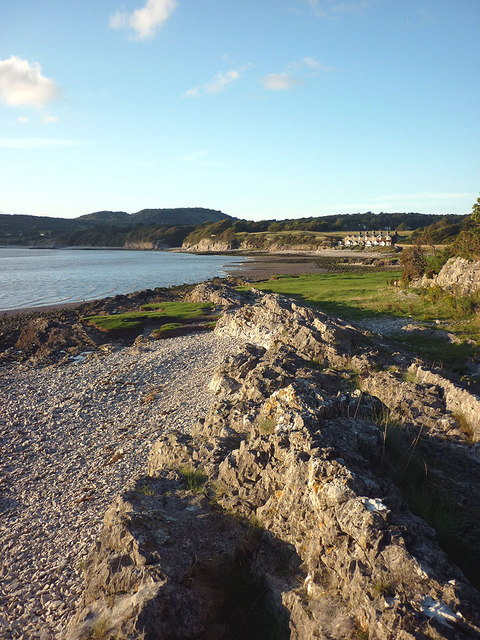 Limestone rocks on the shore south of Silverdale