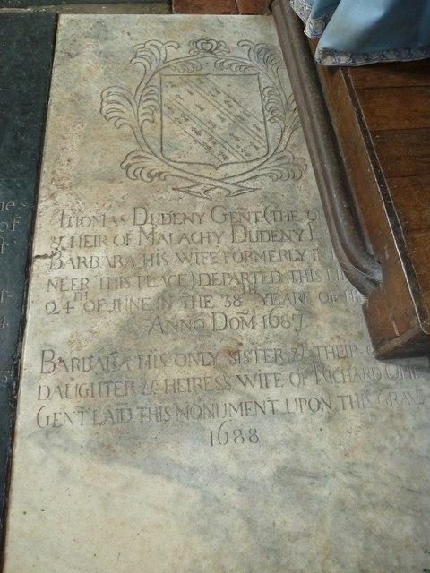 Saint Mary's, Upton Grey: ledger slab (d)