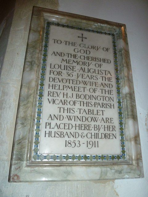 Saint Mary's, Upton Grey: memorial (13)