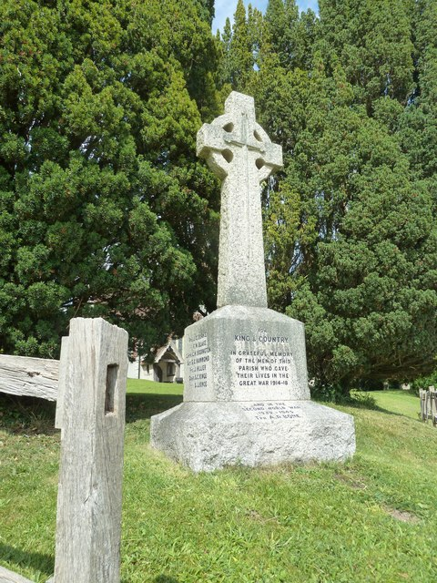 Saint Mary's, Upton Grey: war memorial