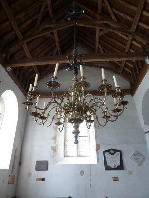Saint Mary's, Upton Grey: chandelier