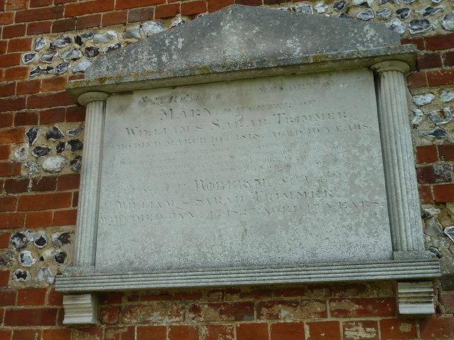 Up Nately- St Stephen's: external memorial