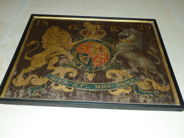 Up Nately- St Stephen's: coat of arms
