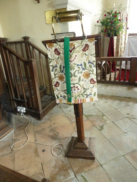 Up Nately- St Stephen's: lectern