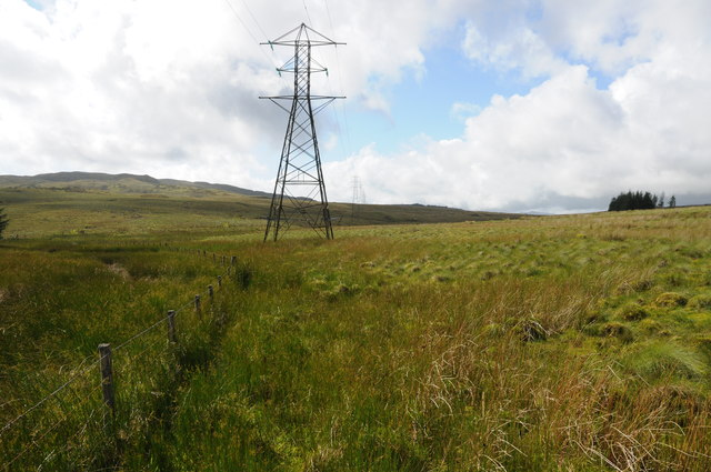 Pylons and moorland