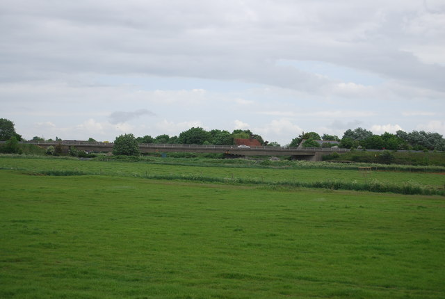 View across the floodplain of the River Adur