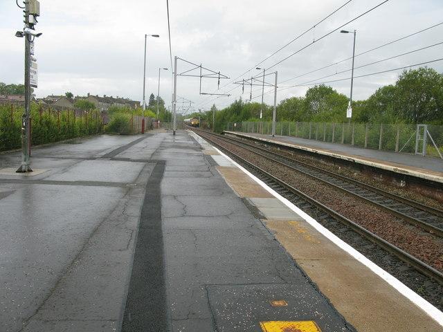 Coatbridge Central railway station, looking NNW