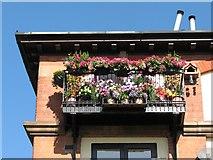 SK5838 : Trentside balcony by John Sutton