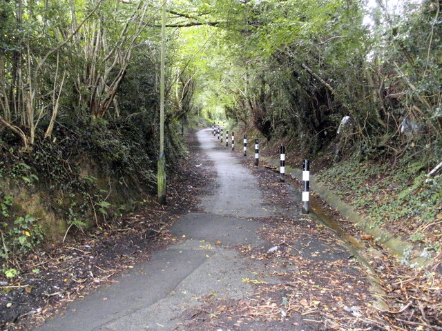 Path from The Angel to Hendredenny Park, Caerphilly