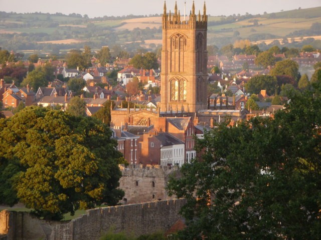 Old Ludlow on a summer evening