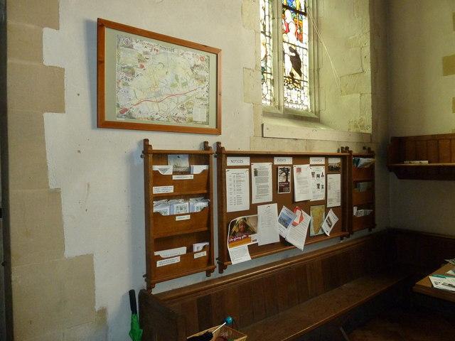 St. Mary, Bentley: modern notice board