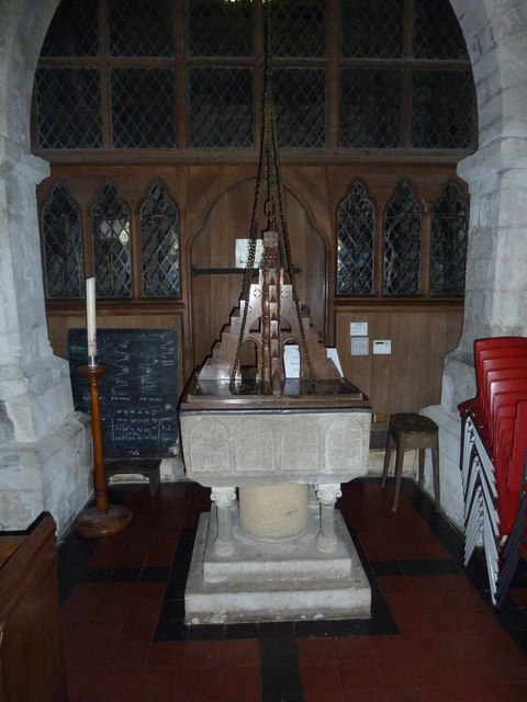 St. Mary, Bentley: font