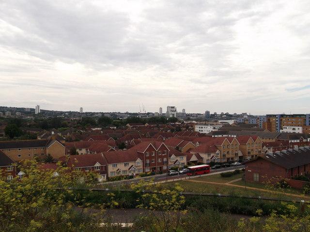 View over Gallions Reach Urban Village