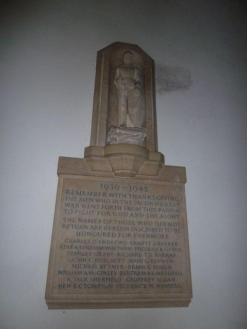 St. Mary, Bentley: 1939-45 war memorial