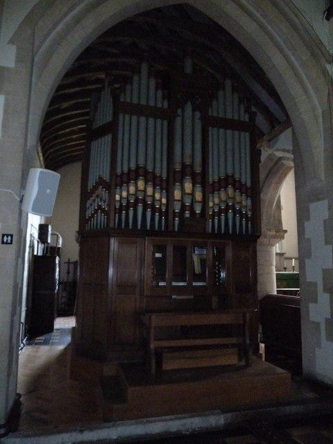 St. Mary, Bentley: organ