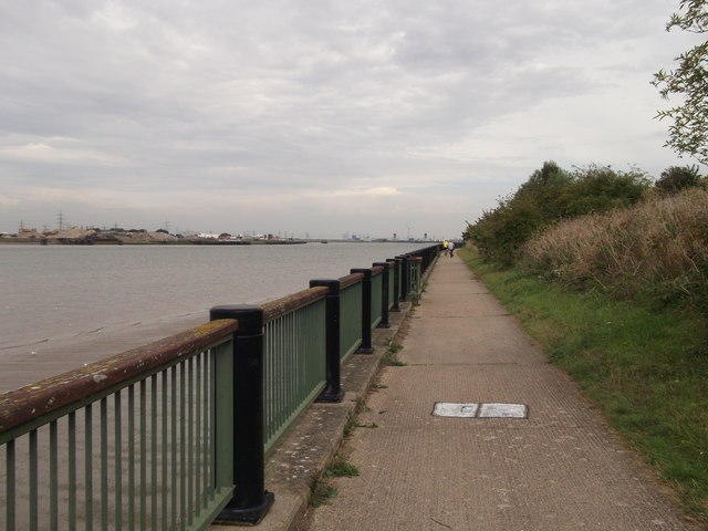 Thames Path and Thames Cycle Route past Tripcock Ness