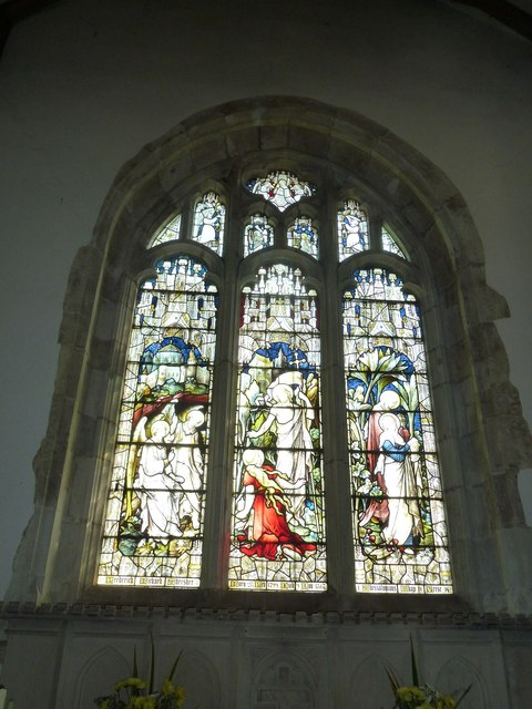 St. Mary, Bentley: stained glass window (3)