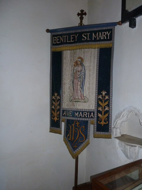 St. Mary, Bentley: banner