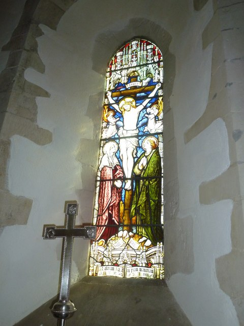St. Mary, Bentley: stained glass window (4)