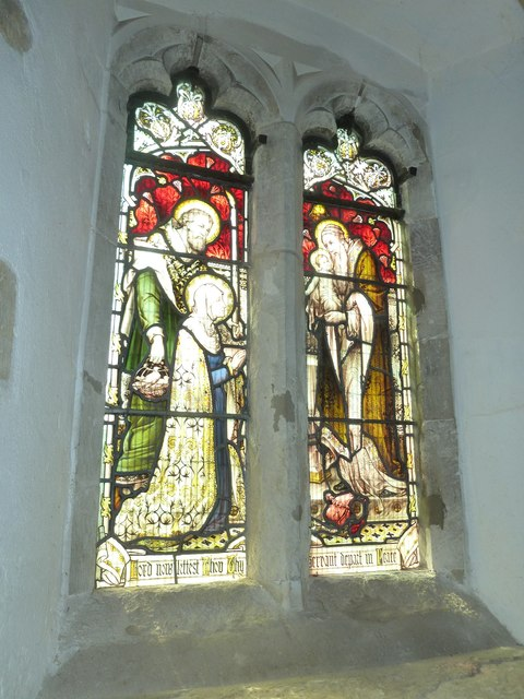 St. Mary, Bentley: stained glass window (5)