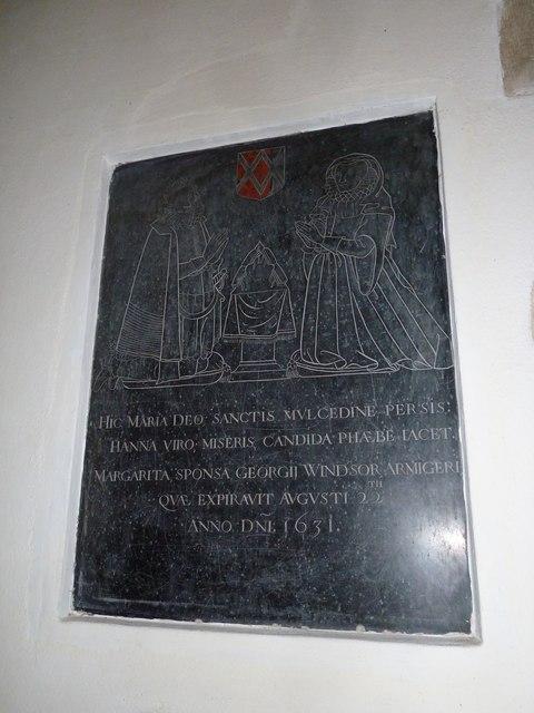 St. Mary, Bentley: memorial (ii)