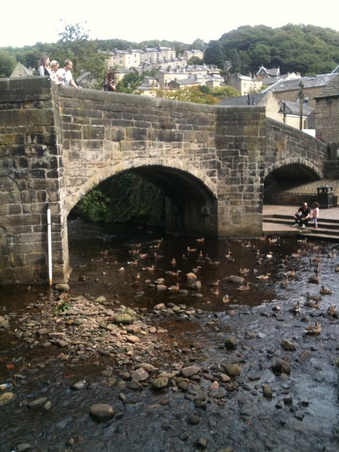 The bridge, at Hebden Bridge