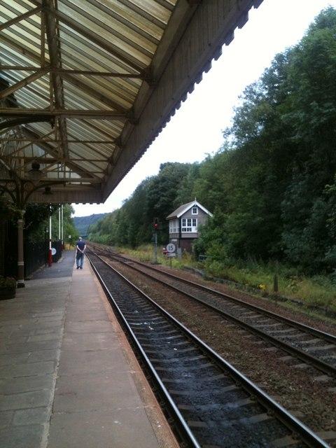 Hebden Bridge station, looking East
