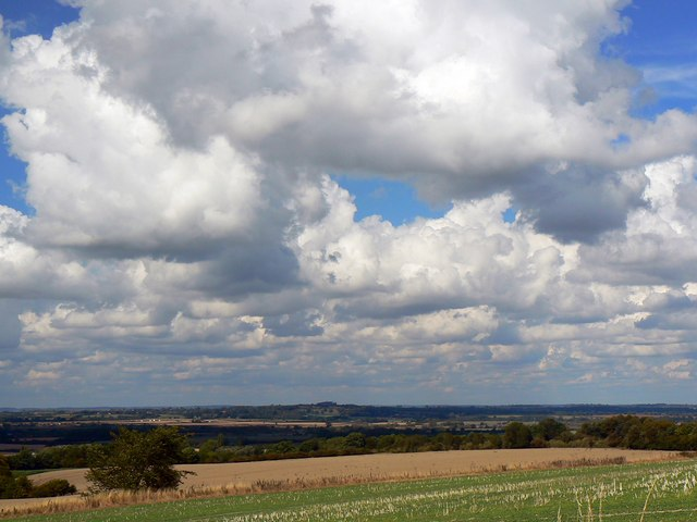 Clouds and blue sky over the Vale of the White Horse, Oxfordshire
