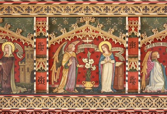 St Mark, Lakenham - Chancel screen detail