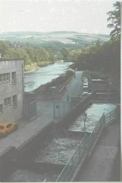 The fish ladder at Pitlochry Dam in 1984