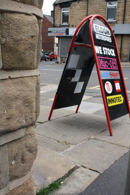 Benchmark on #16 Eldon Street North, Eldon Motorspares